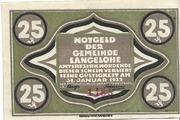 25 Pfennig (Langelohe) – avers