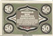 50 Pfennig (Langelohe) – avers