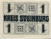 1 Mark (Steinburg) – revers