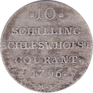 10 schilling courant / ⅙ specie Christian VII – revers