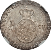 ⅓ Species-Taler - Christian VII de Danemark – revers