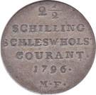 2½ Schilling Courant (Christian VII de Danemark) – revers