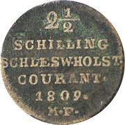 2½ shilling Courant - Friedrich VI de Danemark – revers