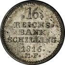 16 reichsbank schilling Frederik VI – revers