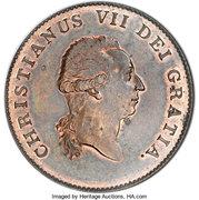 ⅓ speciedaler Christian VII – avers