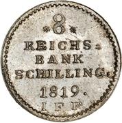 8 Reichsbank Schilling - Friedrich VI de Danemark – revers