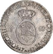 ⅔ speciedaler Christian VII – revers
