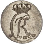 2 Sechsling (Christian VII de Danemark) – avers