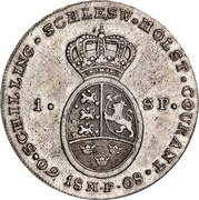 1 Species-Taler - Christian VII de Danemark – revers