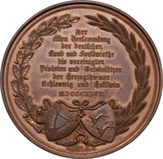 Medaille 11 ème réunion des agricoles et forestiers de Schleswig Holstein a Kiel – revers