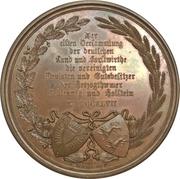 Medaille 11 ème réunion des agricoles et forestiers de Schleswig Holstein a Kiel (type 2) – revers