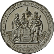 Medal - Start of conflicts between Schleswig-Holstein and Denmark (Zinc issue) – avers