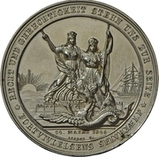 Medal - Start of conflicts between Schleswig-Holstein and Denmark (Zinc issue) – revers