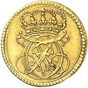 ¼ ducat Karl Friedrich – avers