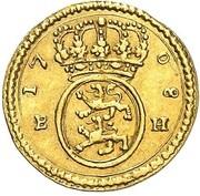 ¼ ducat Karl Friedrich – revers