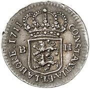 ¼ ducat Karl Friedrich (Frappe essai en argent) – revers