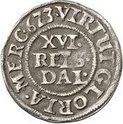 1/16 Thaler - Friedrich III – revers