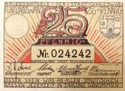 25 Pfennig (Schleswig-Holstein) – avers