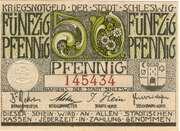 50 Pfennig (Stadt Schleswig) – avers
