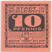 10 Pfennig (Schleswig) – avers