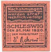 10 Pfennig (Schleswig) – revers