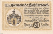20 Heller (Schlierbach) -  revers