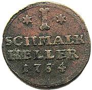 1 heller Wilhelm VIII von Hessen-Kassel – revers