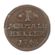 1 heller Friedrich I. – revers