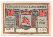 1 Mark (Schneidemühl; Sparkasse) – avers