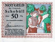 50 Pfennig (Schobüll) – avers