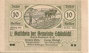 10 Heller (Schönbichl) – avers