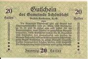 20 Heller (Schönbichl) – revers