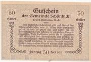 50 Heller (Schönbichl) – revers