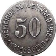 50 pfennig - Schönwald – avers