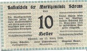 10 Heller (Schrems) – avers