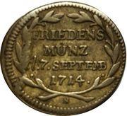 ¼ ducat (Paix de Baden; Frappe essai en argent) – revers
