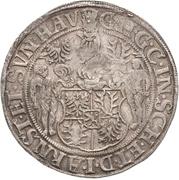 1 Thaler - Günther XLI. and Johann Günther – avers