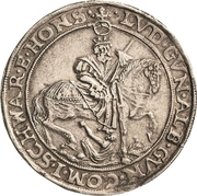 ½ Thaler - Albert VIII., Günther XLII, Anton Heinrich, Johann Günther II. and Christian Günther I. – revers