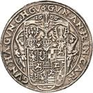 ½ Thaler - Albert VIII., Günther XLII, Anton Heinrich, Johann Günther II. and Christian Günther I. – avers