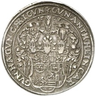 1 Thaler - Albert VIII., Günther XLII, Anton Heinrich, Johann Günther II. and Christian Günther I. – avers