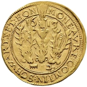 1 Goldgulden - Karl Günther, Ludwig Günther, Albert Günther, Günther XLII., Anton Heinrich, Johann Günther II. and Christian Günther – avers