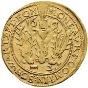 1 Goldgulden - Karl Günther, Ludwig Günther, Albert Günther, Günther XLII., Anton Heinrich, Johann Günther II. and Christian Günther – avers