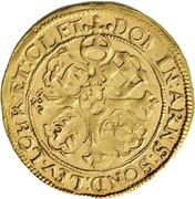 1 Goldgulden - Karl Günther, Ludwig Günther, Albert Günther, Günther XLII., Anton Heinrich, Johann Günther II. and Christian Günther – revers