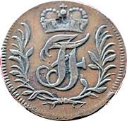 2 pfennig Johann Friedrich – avers