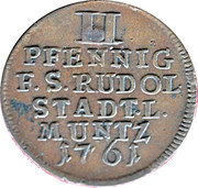 2 pfennig Johann Friedrich – revers