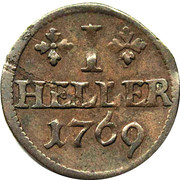 1 heller Ludwig Günther II. – revers