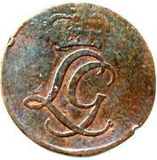 ½ pfennig Ludwig Günther II. – avers