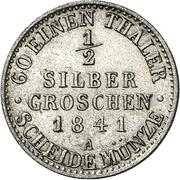 ½ Silbergroschen - Friedrich Günther – revers