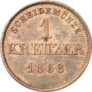 1 Kreuzer - Albert – revers