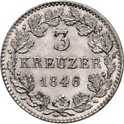 3 Kreuzer - Friedrich Günther – revers